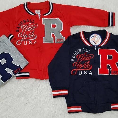 Foto Produk Jacket Anak Bayi Sweater Anak Jaket Baseball dari Aliqa BabyShop