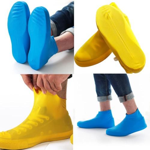 Foto Produk Cover Shoes Jas Pelapis Sepatu Karet Anti Air Hujan Waterproof Tinggi - L Hitam dari lbagstore