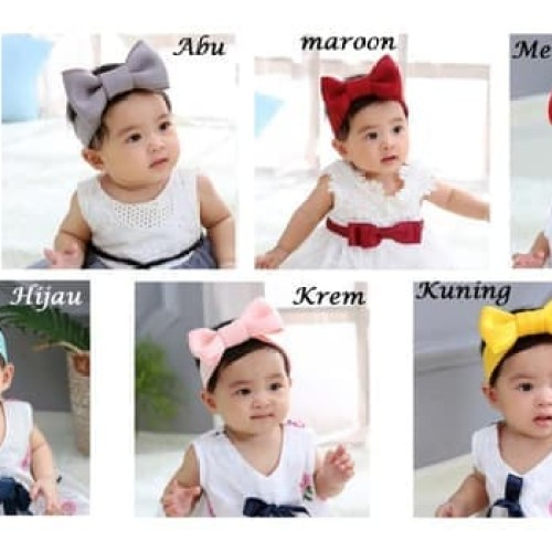 Foto Produk Headband Bayi - Bandana Bayi Imut - Bando Bayi - Headband Anak - Pink dari M&K ( Mom & Kids)