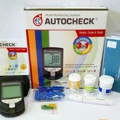 Foto Produk Alat Autocheck GCU 3 in 1 gula darah kolesterol asam urat dari TokoTensi