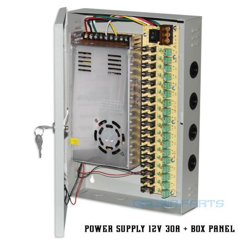 Foto Produk Power Supply Box 30A / 12V Central Panel Cctv Adaptor dari Grosir Part