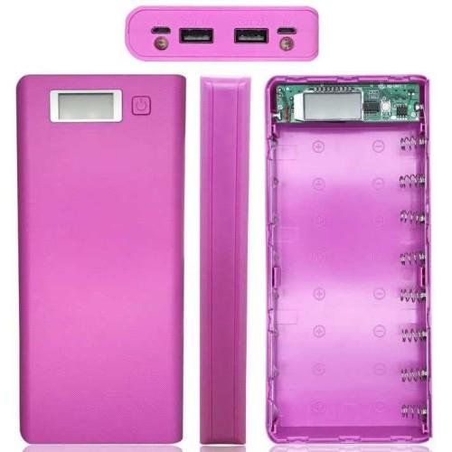 Foto Produk Casing Rakitan Powerbank - Power Bank Case 2 USB Port & LCD 8x18650 dari Super Target