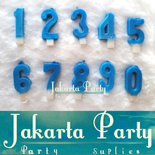 Foto Produk Lilin Angka Biru / Lilin Ultah / Lilin - Jakarta Party dari Jakarta Party