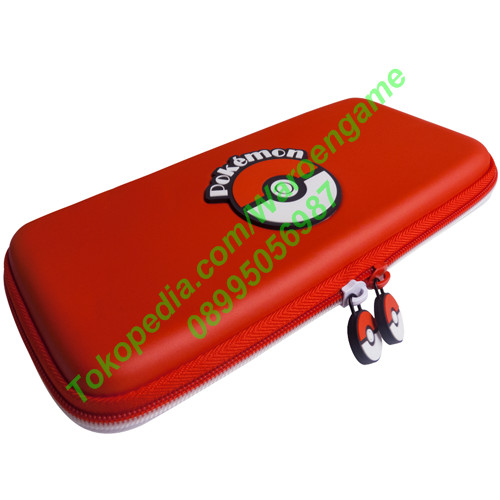 Foto Produk Hori Pokemon Hard Pouch for Nintendo Switch (Pokeball RED) Poke Ball dari Waroengame
