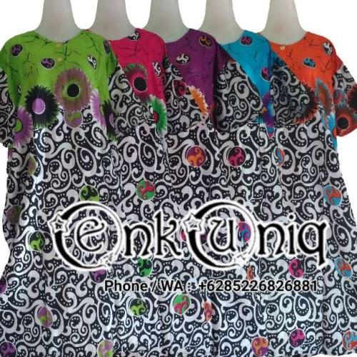 Foto Produk Daster Jumbo Kancing Batik / Daster Ibu Busui Kancing DJHM123 - Tulis Catatan dari EnkUniq Shop