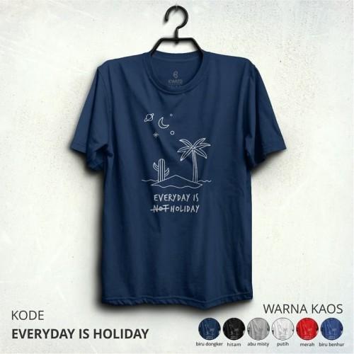 Foto Produk Kaos Pendaki EVERY IS HOLIDAY - Putih, XL dari adventurecloth