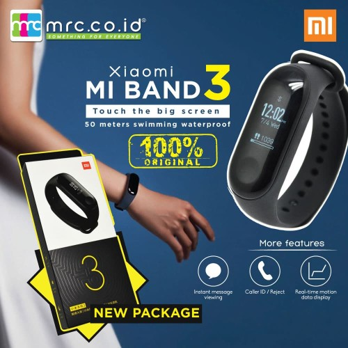 Foto Produk Xiaomi mi band 3 internasional version - KHUSUS PRE ORDER.. dari MRC Phone Shop