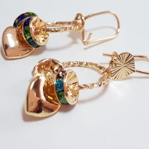 Foto Produk VeE Sepasang Anting Titanium Wanita Model Gantung 6 - Emas dari Vee Jewelry