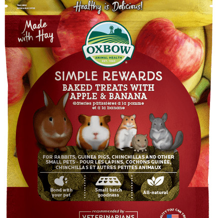 Foto Produk Oxbow Simple Reward Baked Treat Apple and Banana 60gr Snack - EXP 2022-09 dari Hime petshop