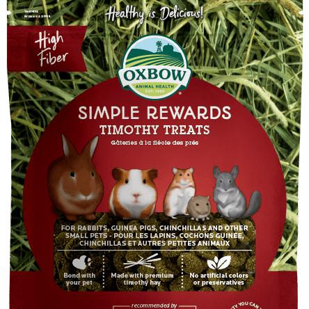 Foto Produk Oxbow Simple Rewards Timothy Treats 60gr Snack Kelinci Marmut Hamster - EXP 2020-07 dari Hime petshop
