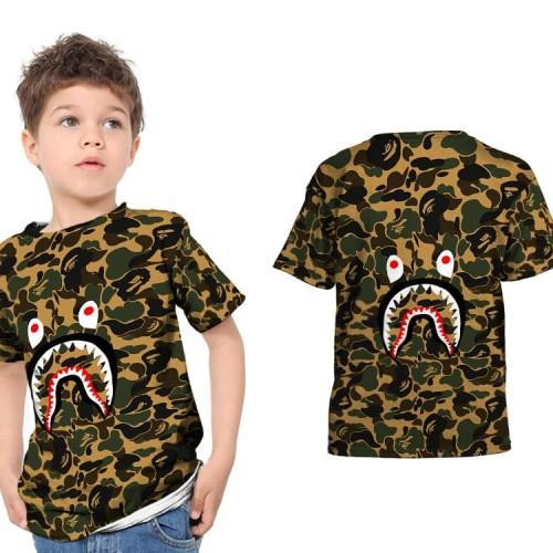 Foto Produk T shirt Kaos Anak Unisex A BATHING APE BAPE CAMO SHARK Fullprint 12 dari FikaStore