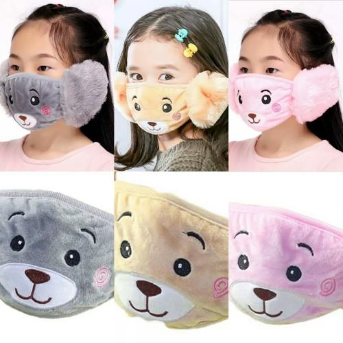 Foto Produk Earmuff mask masker mulut telinga anak import karakter panda winter dari KIENAN SHOP