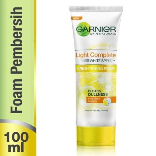 Foto Produk ORIGINAL Garnier Light Complete White Speed Brightening Foam 100 ML dari BlueHerbal08