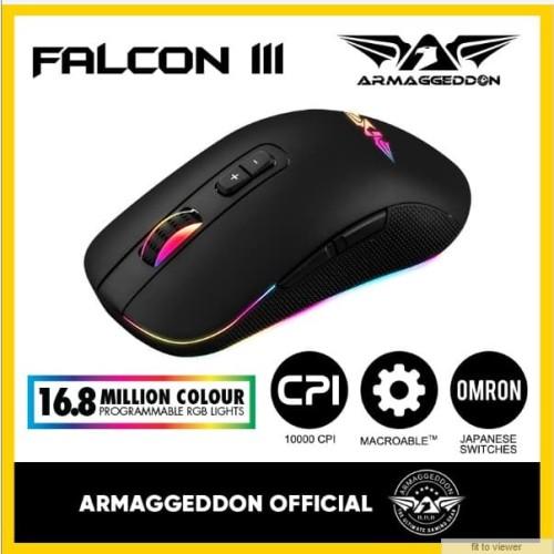 Foto Produk Armaggeddon Mouse Gaming Falcon III 10000 CPI - Garansi 2 Tahun - No Name dari Armaggeddon Official