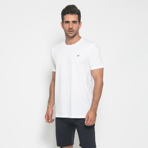 Foto Produk MON AKITA - Florian Men T-Shirt White - Kaos Lengan Pendek Putih Pria - Putih, XL dari Mon Akita