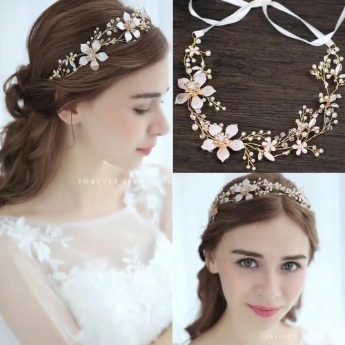 Foto Produk Headpiece Hairpiece Bandana Flower Crown Hiasan Aksesoris Rambut Pesta dari fairystuffs