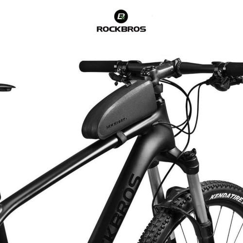 Foto Produk ROCKBROS AS019 MTB Bike Frame Front Tube Bag Pouch - Tas Sepeda - S dari Rockbros Indonesia