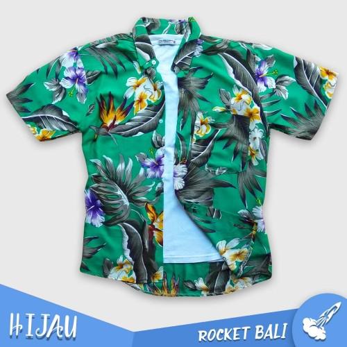 Foto Produk Kemeja Hawai - Baju Pantai Pria - Kemeja Bunga - Baju Pantai Kemeja - Hijau muda dari Rocket Bali