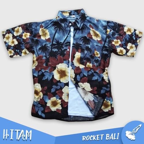 Foto Produk Baju Pantai Wanita Atasan - Baju Pantai Bali Wanita - Kemeja Hawai - Hitam dari Rocket Bali
