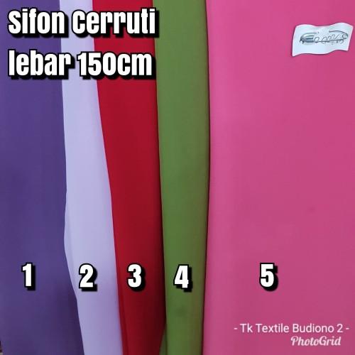 Foto Produk KAIN SIFON CERUTTI POLOS / CERUTTY / CERUTI POLOS dari Toko Textile Budiono 2