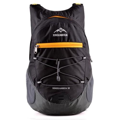 Foto Produk Tas Mini Lipat Dompet Backpack Ransel Sepeda Gunung Outdoor Jalan 18L - Hitam dari lbagstore