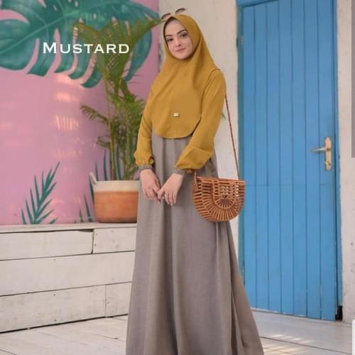 Foto Produk Baju Gamis Set Syari Wanita Terbaru Mawar Syari Baju Setelan Muslim dari Grosir Hijabers