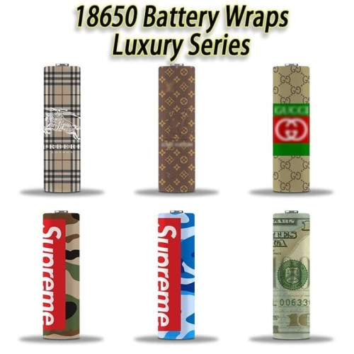 Foto Produk Luxury Edition Pelapis Baterai / Wrap Baterai Vape 18650 VTC AWT DLL - RANDOM RANDOM dari JakartaVapers