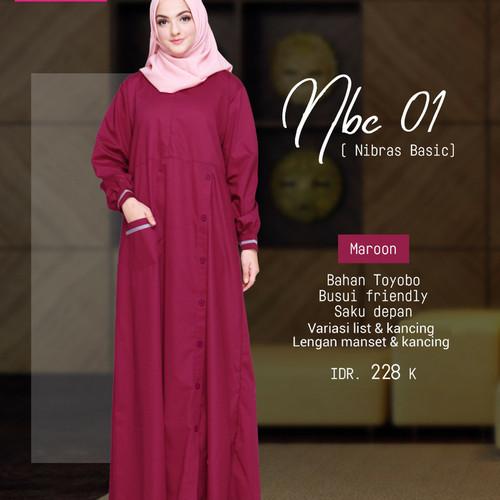 Foto Produk Gamis Dress Muslimah SyariORI Nibras NBC 01 dari Solehah Shop