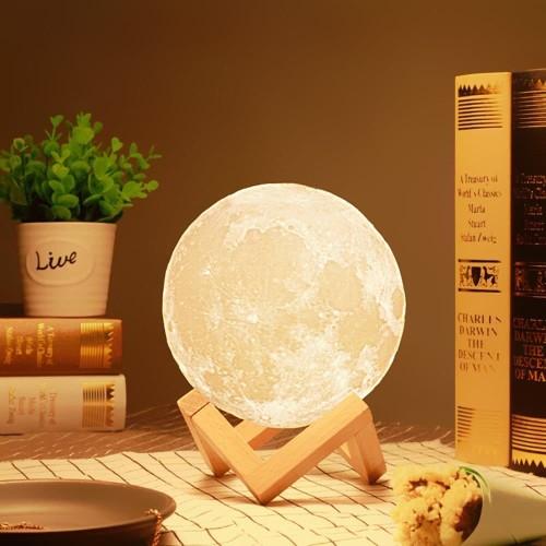 Foto Produk Moon Lamp / Lampu Bulan 15CM 16 warna RGB + Remote dari laris_88 computer