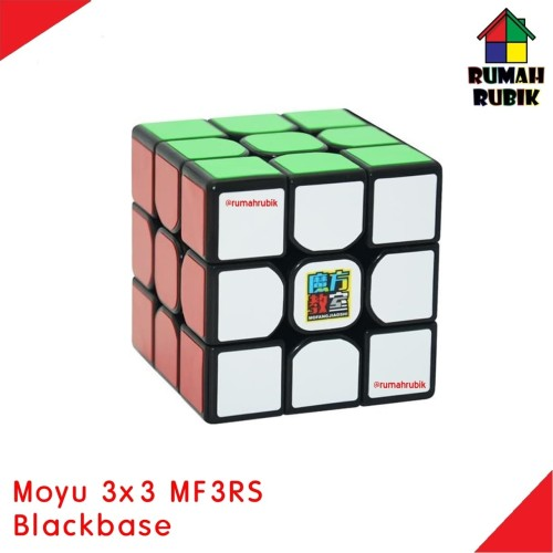 Foto Produk Rubik 3x3 Moyu MF3RS Blackbase / Rubik Murah dari Rumah Rubik