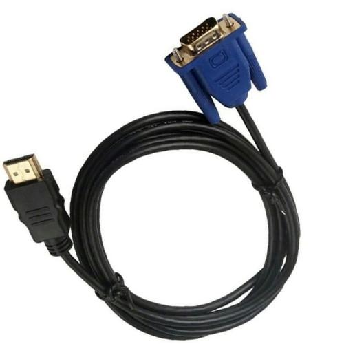 Foto Produk Kabel Konverter HDMI To Male VGA 1 Meter dari abyadh store