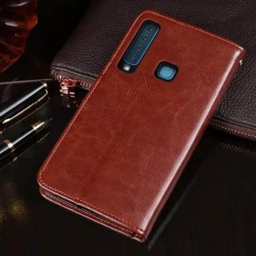 Foto Produk Flip Cover Samsung Galaxy A9 2018 Wallet Leather Case - Casing Kulit - Cokelat dari Aurora Phone