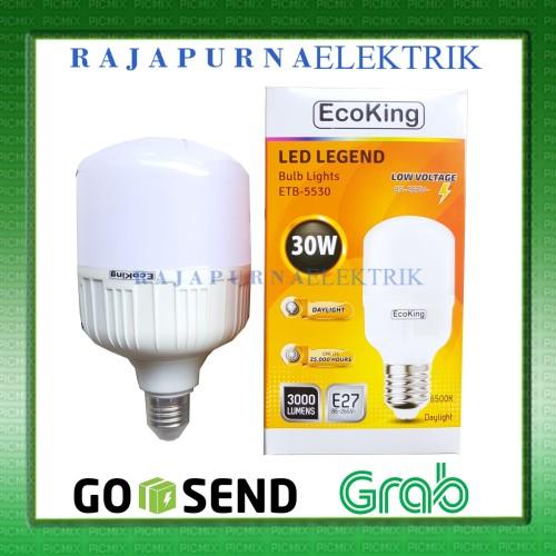Foto Produk LAMPU LED BULB JUMBO ECOKING 30W / 30 watt SUPER TERANG - Putih dari Rajapurna elektrik