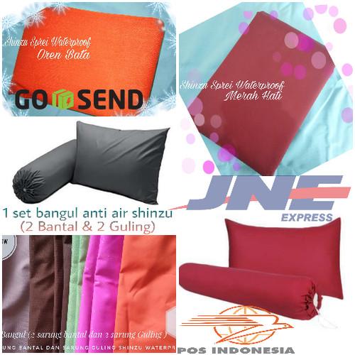 Foto Produk 1 Set Bangul ANTI AIR ( 2 sarung bantal + 2 sarung guling ) dari Miss'u Shop