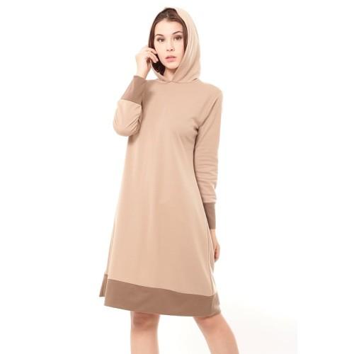 Foto Produk Yoenik Apparel Milena Dress Hoodie Khaki M14534 R48S2 dari Yoenik Apparel