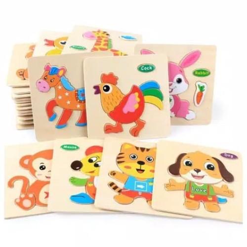 Foto Produk Mainan Edukasi PUZZLE ANAK/FIRST STEP PUZZLE/MAINAN PUZZLE BUAT PEMULA dari lovely kayy
