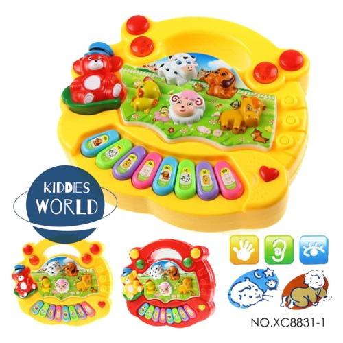 Foto Produk Mainan Anak Animal Farm Piano Suara Hewan Musik Peternakan Baby Toys dari Kiddies World
