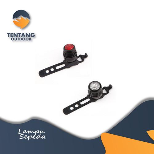 Foto Produk Lampu Sepeda USB Belakang Depan Helm LED Frog Plus Bracket - Hitam Merah dari TentangOutdoor