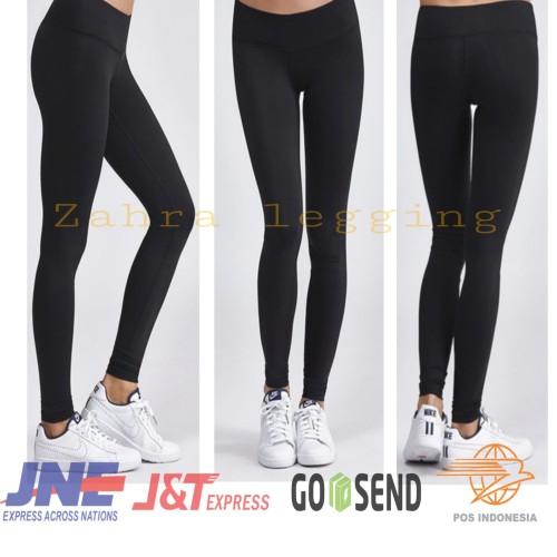 Foto Produk celana legging import polos tebal all size fit to XXL - Hitam dari zahra leging