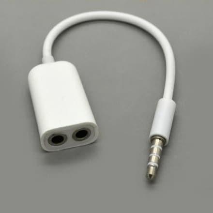 Foto Produk AUDIO SPLITTER PEMBAGI CABANG HEADSET AUX 3.5mm phone Garis 3 ADAPTER dari tokosigma