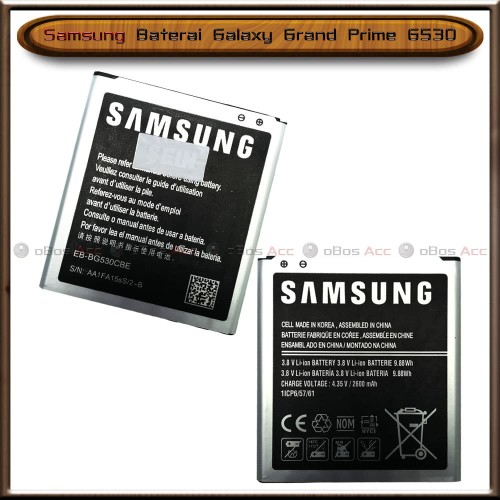 Foto Produk Baterai Samsung Galaxy Grand Prime G530 Original Batre Batrai HP dari oBos Acc