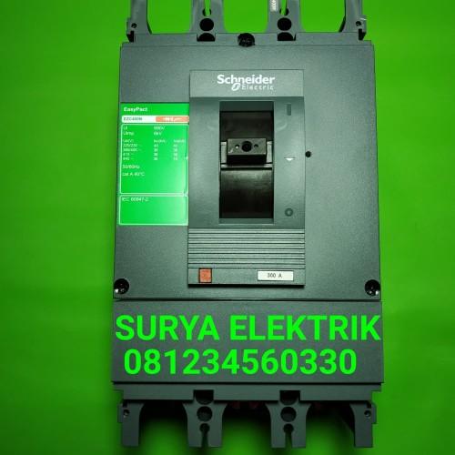 Foto Produk Mcb mccb breaker schneider ezc 300A 300 a 300 amper ampere amp 3 pole dari SURYA-ELEKTRIK