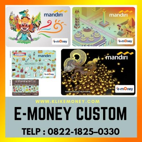 Foto Produk custom emoney 70pcs 1 sisi dari emoney custom kartu