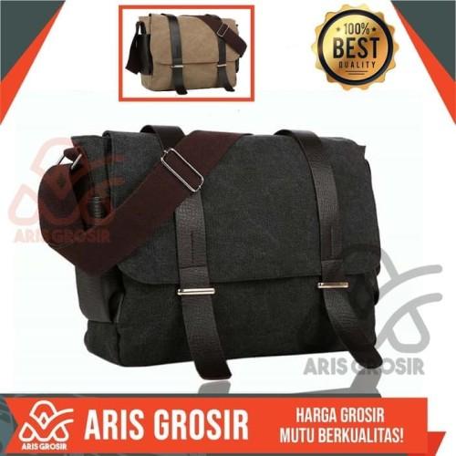 Foto Produk Tas Selempang Kulit Anchor Pria Army Cokelat | Cowok Terbaru Premium dari PUSAT ARIS GROSIR