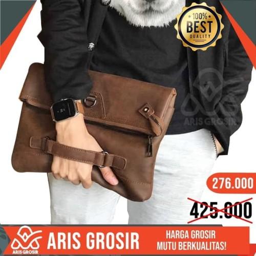 Foto Produk Tas Selempang Pria/clutch/handbag ISHIYA-KOFU (impor) COKLAT 2018 dari PUSAT ARIS GROSIR