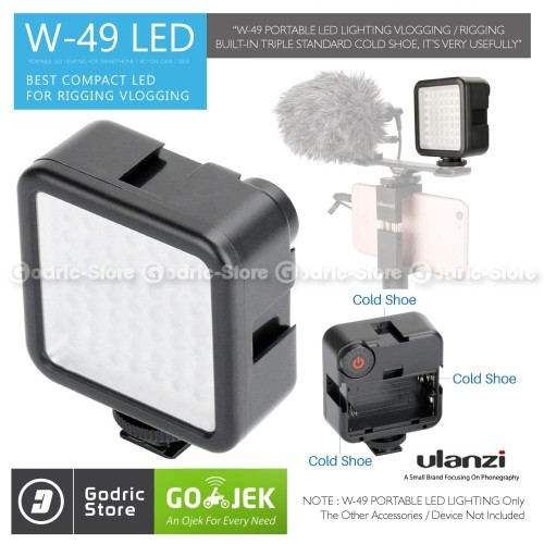 Foto Produk ULANZI W49 Video Light LED W 49 Lampu Studio Foto DSLR Smartphone HP dari G-Rex