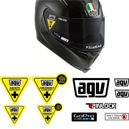 Foto Produk Simple Set Paket Stiker Helm AGV SHOEI Arai HJC - agv dari @helm_nation