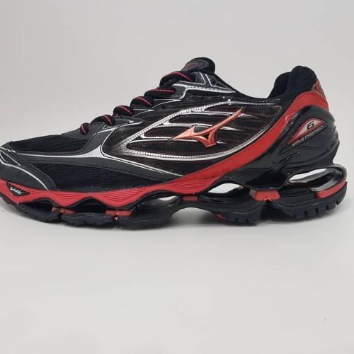 Foto Produk Sepatu Volly MIZUNO WAVE PROPECHY 6 BLACK RED Grade Original dari Eleven11shoes