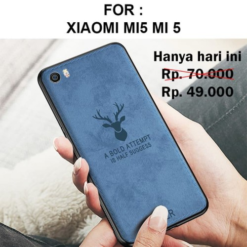 Foto Produk Case Xiaomi Mi5 Mi 5 softcase casing cover leather tpu ultra thin DEER dari Case Pedia