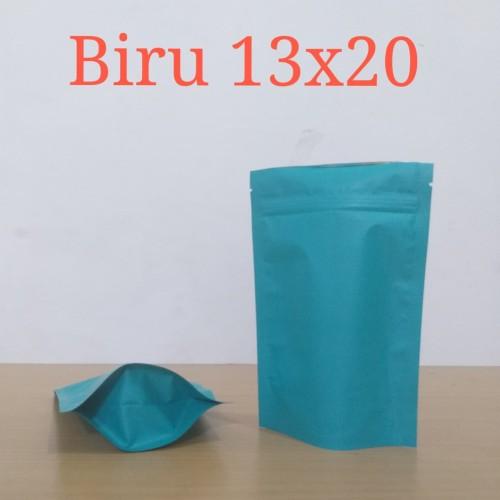 Foto Produk standing pouch biru 13x20 dari KEMASAN SEMARANG